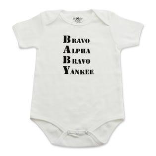 Infant Bodysuit - BABY Bravo, Alpha, Bravo, Yankee