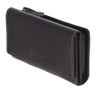 Club Rochelier Medium Full Leather Ladies Clutch - BLACK CL11066-97 (EA1)