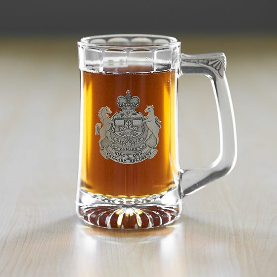 The Kings Own Calgary Regiment (RCAC) Glass Beer Stein