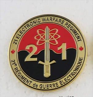 21 EW Regt. Coin
