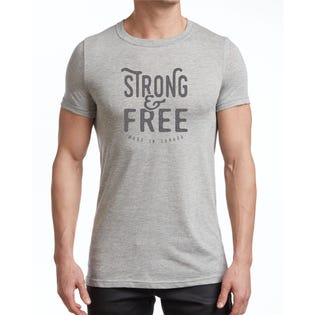 Standfields Men's Strong & Free T-Shirt Ampersand Print (EA1)