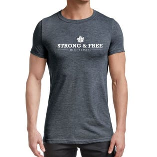 Standfields Men's Strong & Free T-Shirt Maple Leaf (EA1)