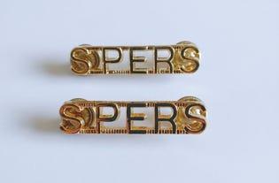 SPERS Metal Shoulder Titles