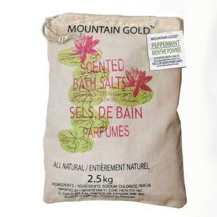 Sels de bain de l'Himalaya à arôme de menthe poivrée MountainGold, paquet de 2 (EA1)