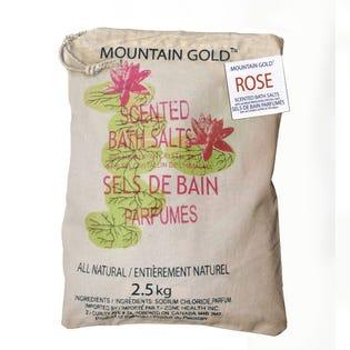 Sels de bain de l'Himalaya à arôme de rose MountainGold, paquet de 2 (EA1)