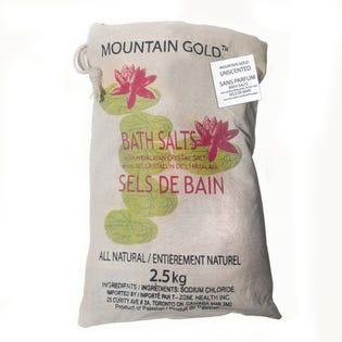 Sels de bain naturels de l'Himalaya MountainGold, paquet de 2 (EA1)