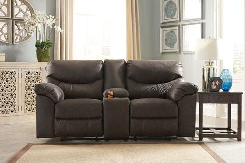 ASHLEY DBL Rec Loveseat w/console Boxberg