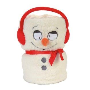 Snow Snowman Snowthrow Blanket