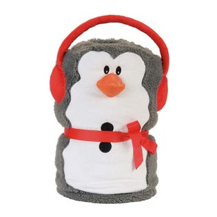 Snow Penguin Snowthrow Blanket