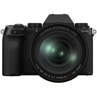 Fuji X-S10 Mirrorless Camera Kit Black w/ XF 16-80mm f/4 OIS WR Lens