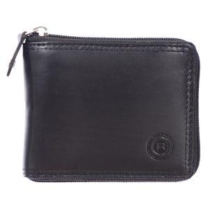 Portefeuille à deux volets pour hommes ClubRochelier, cuir 44300-BLK(EA1)