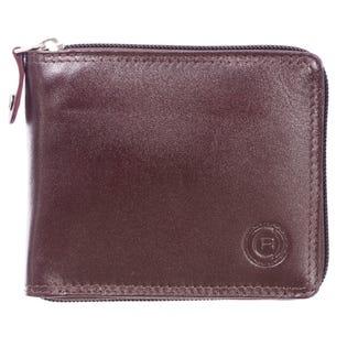 Portefeuille à deux volets pour hommes ClubRochelier, cuir 44300-Mahogany(EA1)