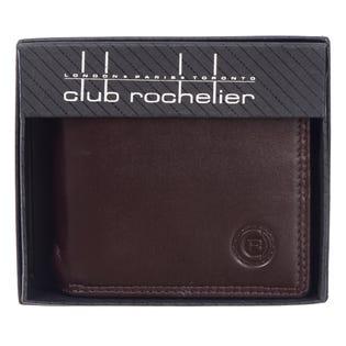 Portefeuille mince pour hommes ClubRochelier, cuir 4452-4-Mahogany (EA1)