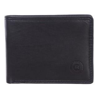 Club Rochelier Mens Slimfold Leather Wallet Black 4454-R2-BLK (EA1)