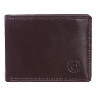 Club Rochelier Mens Slimfold Leather Wallet 4454-R2-Mahogany (EA1)