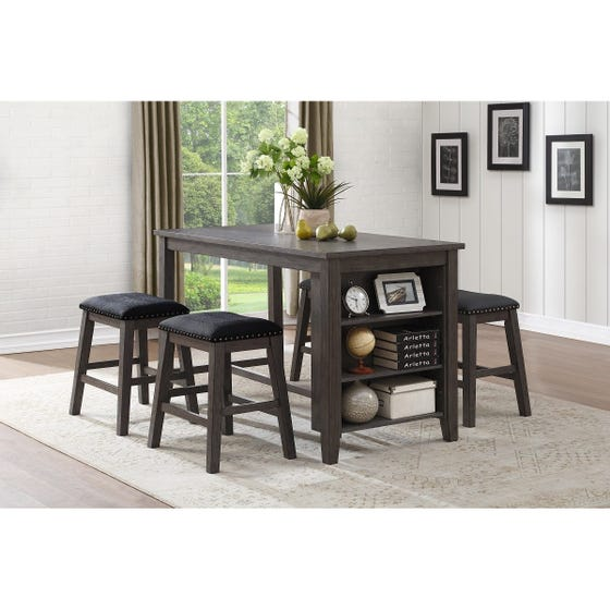 Mazin Center-Height Stools with Nailheads 5603-24