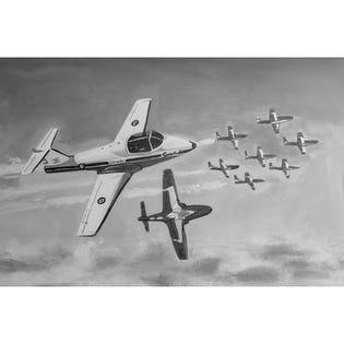 Canvas Candy Break Formation Plane 24''x36''