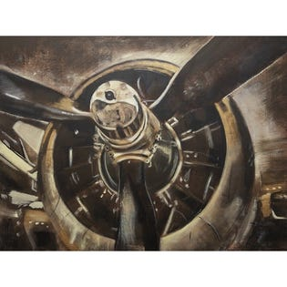 Canvas Candy Ready for Takeoff Plane Motor 30''x40''