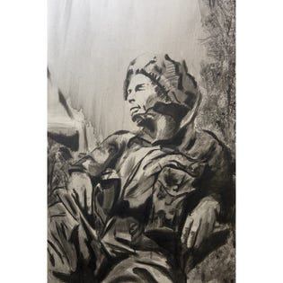 Canvas Candy Afternoon Reflection Army Soldier 24''x36''