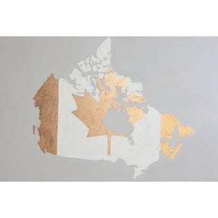 Canvas Candy Pride Canada Map 24''x36''