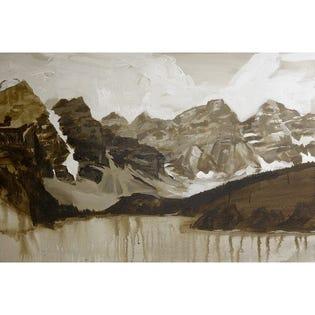 Canvas Candy Weekend Getaways Mountains Lake 24''x36''