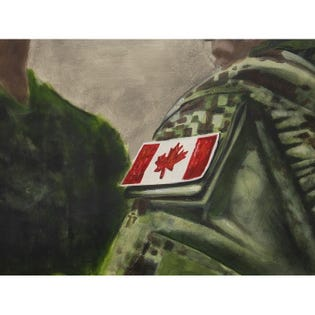 Canvas Candy Canadian Pride Badge 24''x36''
