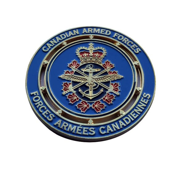 Support Our Troops Ribbon Coin