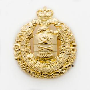 LDSH(RC) Cap Badge Solid Brass