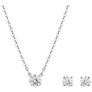 SWAROVSKI Attract Round Necklace and Earring Set