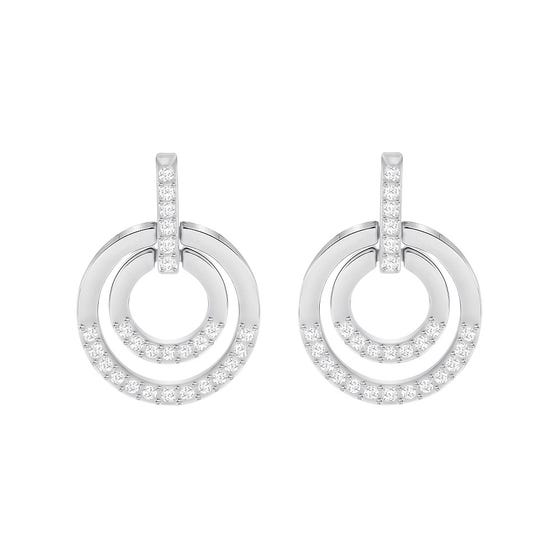 SWAROVSKI Circle Rhodium Earrings