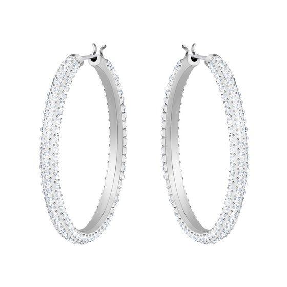 Swarovski Stone Hoop Earrings