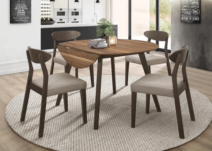 Mazin Round Drop Leaf Table Dinette Collection