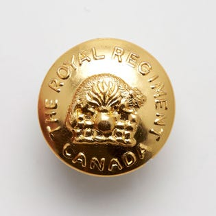 Bouton en laiton du Royal Regiment of Canada