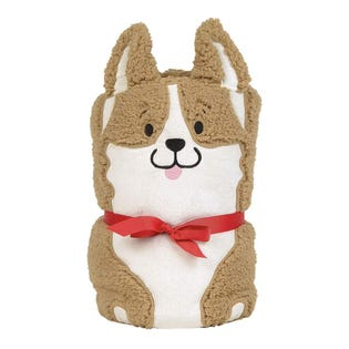 Snow Corgi Dog Snowthrow Blanket