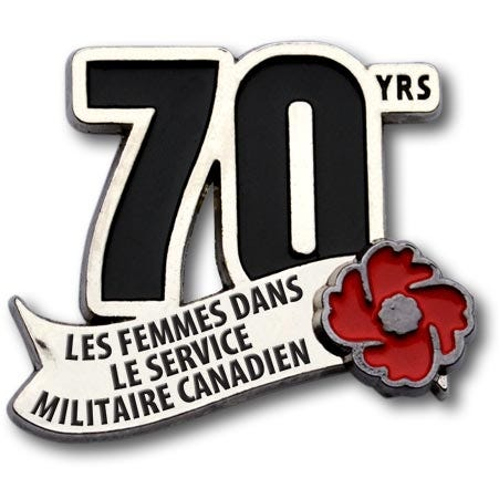 THE ROYAL CANADIAN LEGION - Women in the Military Commemorative Pin - French