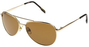 Foster Grant Women's Prelude Polarized Aviator Sunglasses