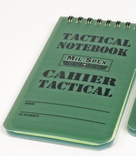 Calepin tactique 3 x 5 po