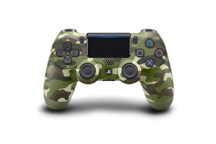 PS4 Green Camo Controller
