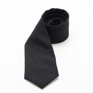 Necktie Metal Clip Black Polyester