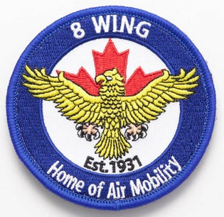 Royal Canadian Air Force 8 Wing Trenton Flight Badge
