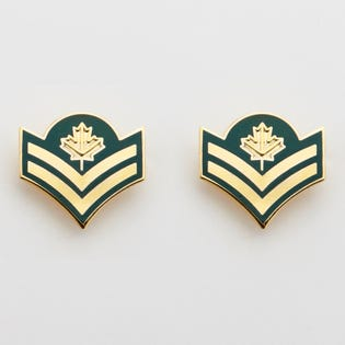 DEU Collar Rank Pins Master Corporal  (Pair)