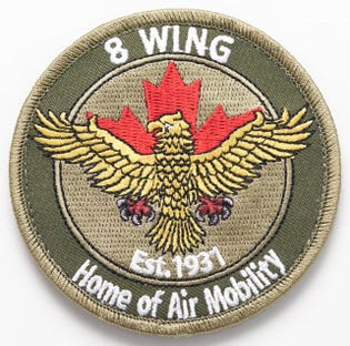 Royal Canadian Air Force 8 Wing Trenton Subdued Flight Patch