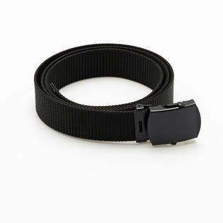 Nylon Belt - Black with Black Buckle