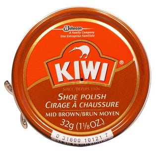 Kiwi Shoe Polish - Medium Brown 32g