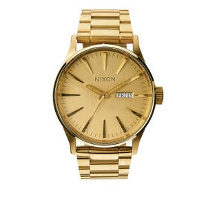 Nixon Men's Sentry SS All Gold Watch A356-502