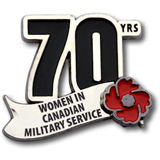Épingle commémorative – Femmes militaires