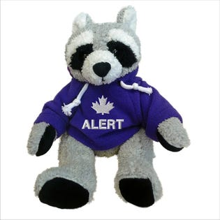 "Alert Raccoon Plush 10"""