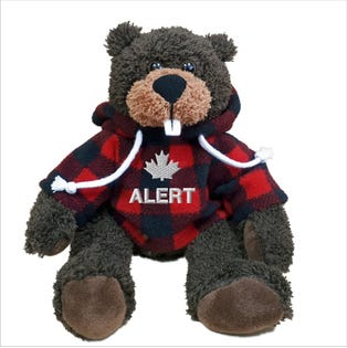 "Alert Beaver Plush 10"""