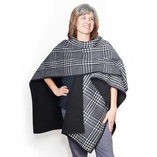 Philhobar Women's Polar Fleece Wrap Ruana Sweater