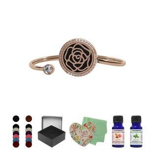 T Zone Health Gold Rose Bracelet Set (EA1)
